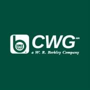 Logo for Continental Western Group; white text against a green square