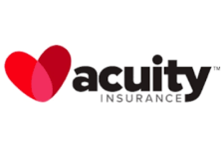 On acuity's logo 'acuity' is written in bold black lowercase letters and it's paired with a two-tone red heart.