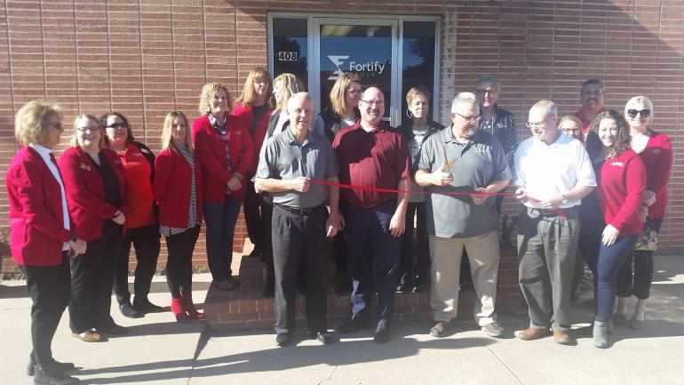Chamber representatives and the Fortify Group team officially cut the ribbon in front of Fortify's North Platte location on Nov. 14.